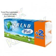 Trend Plus toalettpapír 2 rétegű 120 lapos 8+2 tekercses