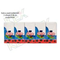 Katica papírzsebkendő 3 rétegű 9 darabos