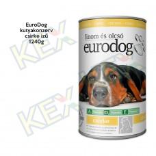 EuroDog kutyakonzerv csirke ízű 1240g