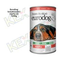 EuroDog kutyakonzerv marha ízű 1240g