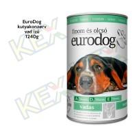 EuroDog kutyakonzerv vad ízű 1240g