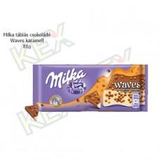 Milka táblás csokoládé Waves karamell 81g