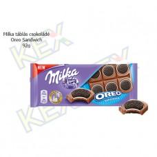 Milka táblás csokoládé Oreo Sandwich 90g
