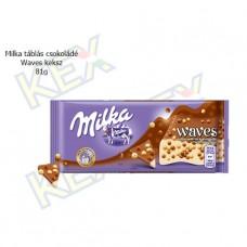 Milka táblás csokoládé Waves keksz 81g