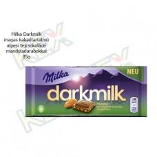 Milka Darkmilk magas kakaótartalmú alpesi tejcsokoládé mandulás 85g