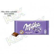Milka táblás csokoládé alpesi tejtábla 100g
