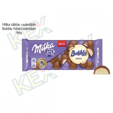 Milka táblás csokoládé Bubbly fehércsokoládé 95g