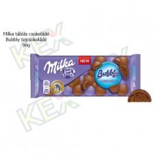 Milka táblás csokoládé Bubbly tejcsokoládé 90g