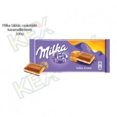 Milka táblás csokoládé karamellkrémes 100g