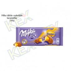 Milka táblás csokoládé karamellás 100g
