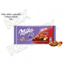 Milka táblás csokoládé Collage málnás 93g