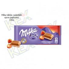 Milka táblás csokoládé eperjoghurtos 100g