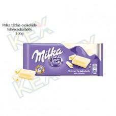 Milka táblás csokoládé fehércsokoládés 100g