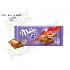 Milka táblás csokoládé LU keksz 87g