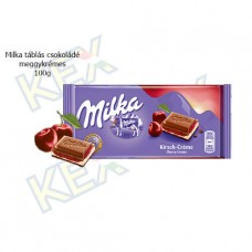 Milka táblás csokoládé meggykrémes 100g