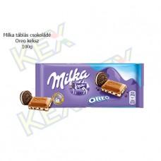 Milka táblás csokoládé Oreo keksz 100g
