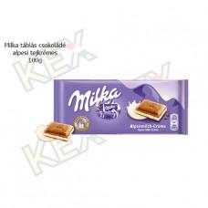 Milka táblás csokoládé alpesi tejkrémes 100g