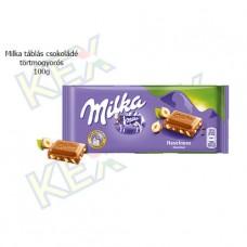 Milka táblás csokoládé törtmogyorós 100g