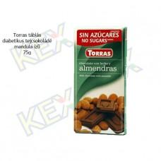 Torras diabetikus csokoládé mandula ízű 75g