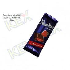 Paradise táblás tejcsokoládé eper ízű krémmel 90g