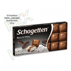 Schogetten táblás csokoládé black&white 100g