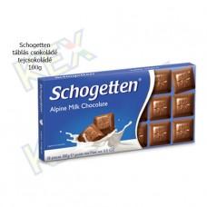 Schogetten táblás csokoládé tejcsokoládé 100g