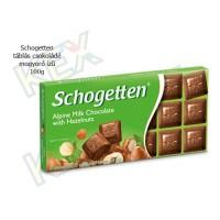 Schogetten táblás csokoládé mogyoró ízű 100g