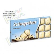 Schogetten táblás csokoládé sztracsatella ízű 100g