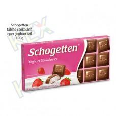 Schogetten táblás csokoládé eper-joghurt ízű 100g