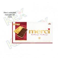 Merci táblás étcsokoládé marcipán ízű 112g