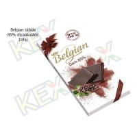 Belgian táblás étcsokoládé 85% 100g
