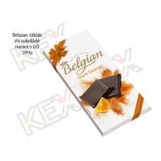 Belgian táblás étcsokoládé narancs ízű 100g