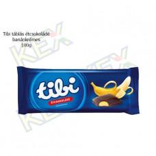 Tibi táblás étcsokoládé banánkrémes 100g