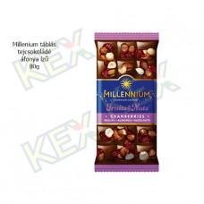 Millennium táblás tejcsokoládé áfonya ízű 80g
