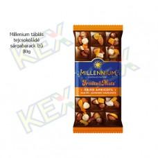 Millennium táblás tejcsokoládé sárgabarack ízű 80g