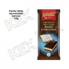 Kandia táblás tejcsokoládé kekszes 115g