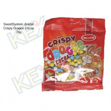 SweetSystem drazsé Crispy Dragee Cocoa 70g