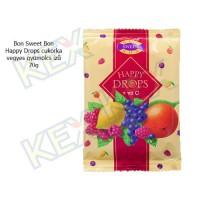 Bon Sweet Bon Happy Drops cukorka vegyes gyümölcs ízű 70g
