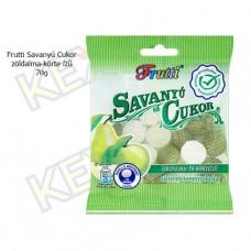 Frutti savanyú cukor zöldalma-körte ízű 70g