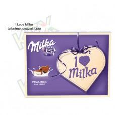 I Love Milka praliné alpesi tejkrémes 120g