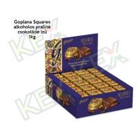 Goplana Squares alkoholos praliné csokoládé ízű 1kg