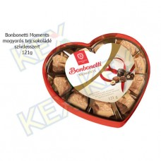 Bonbonetti Moments mogyorós tejcsokoládé szívdesszert 121g