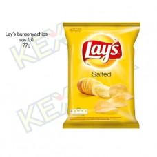 Lay's burgonyachips sós ízű 77g