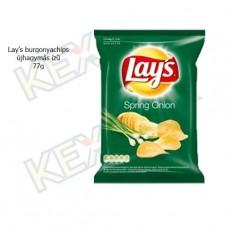 Lay's burgonyachips újhagymás ízű 77g