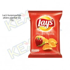 Lay's burgonyachips pikáns paprikás ízű 77g