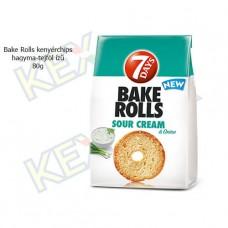 Bake Rolls kenyérchips hagyma-tejföl ízű 80g