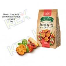 Maretti Bruschette pirított kenyérkarikák pizza ízű 70g