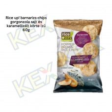 Rice up barnarizs-chips gorgonzola-körte ízű 60g