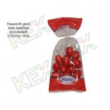 Hauswirth húsvéti piros tojás tejcsokoládé (15x10g) 150g