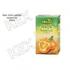 Hello 100% üdítőital narancs ízű 250ml